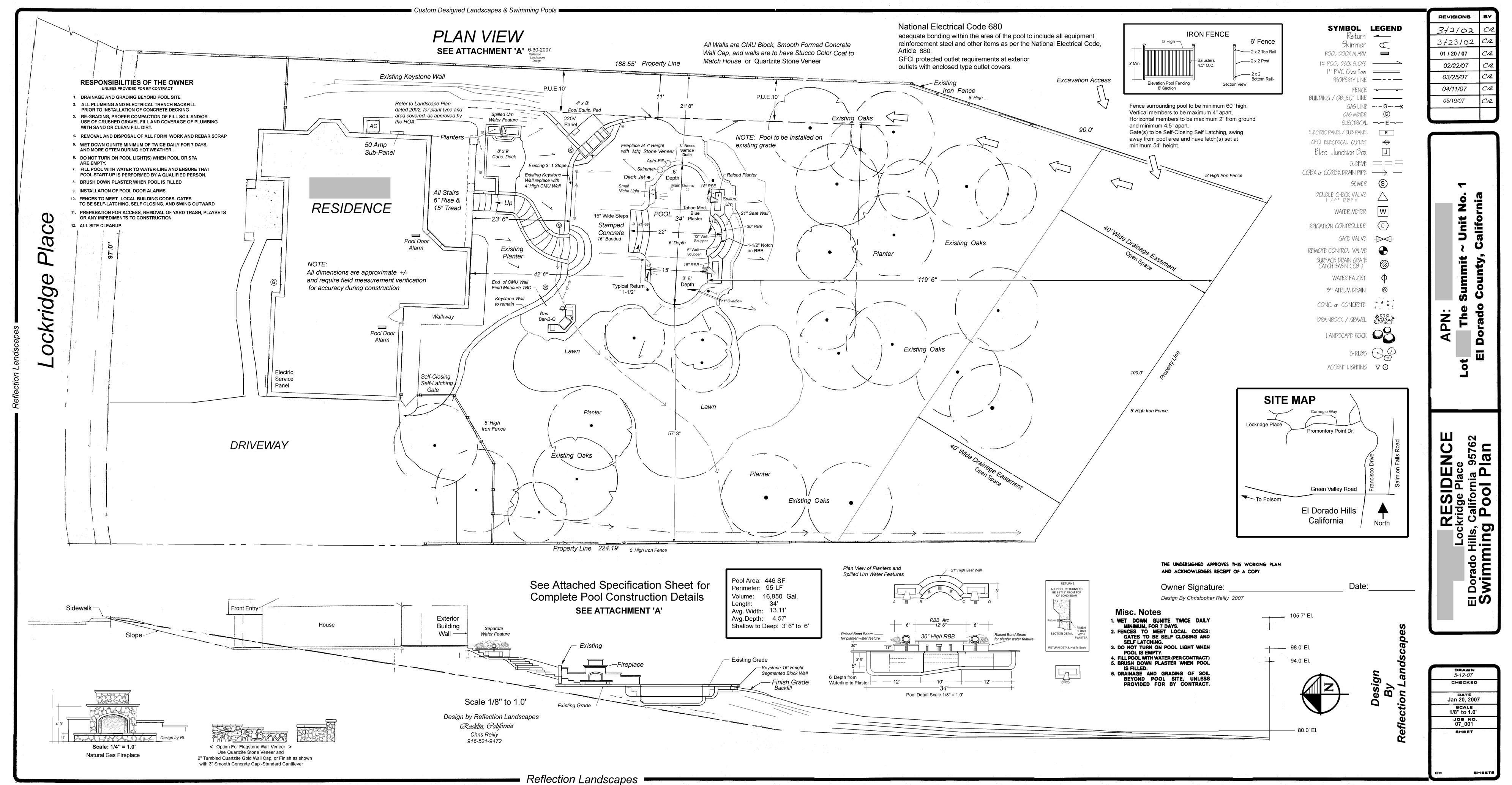 Swimming Pool Blueprints landscaping, landscape design, reflection landscapes